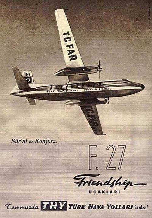 THY reklamı: Friendship Uçakları - Eski Reklamlar