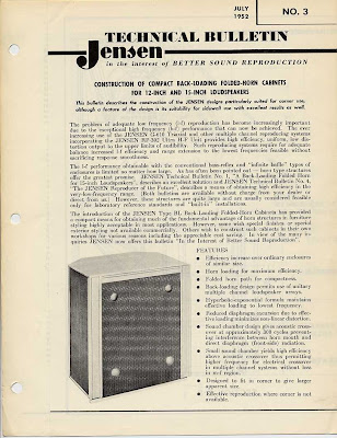 ... Brociner Cabinets But It Seems It Was More Than Likely Licensed From  Jensen. The Documentation Calls For A Jensen P15 To Be Used Which Is What  Was Used ...