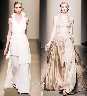 Wedding dress ideas at Milan Fashion Week Fall 09