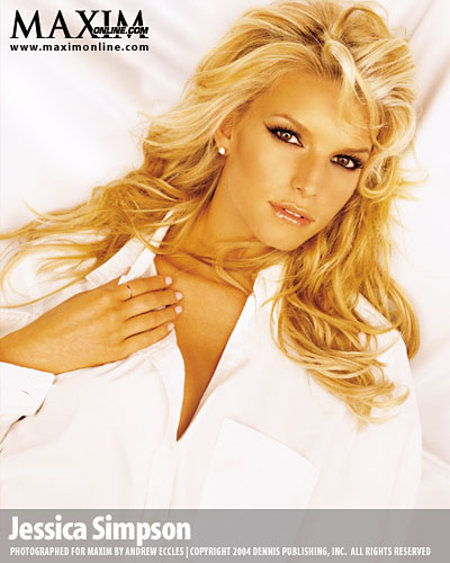 Jessica Simpson sexy MAXIM photoshoot