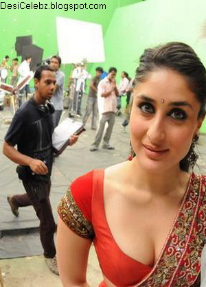 Kareena Kapoor boobs coming out of blouse