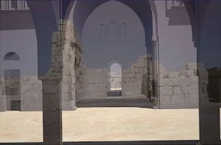 Reconstrucción infográfica del Palacio Omeya de Amman (Jordania) sobre los restos arqueológicos [LAAC]