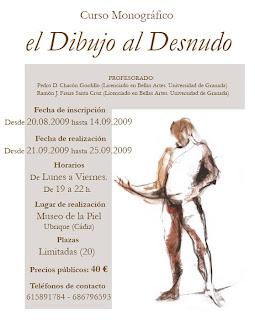 Cartel del curso 'El dibujo al desnudo'