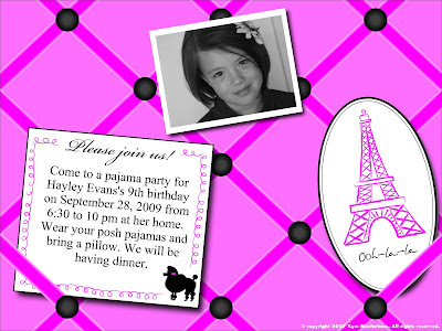 birthday party invites templates. I made this invitation at