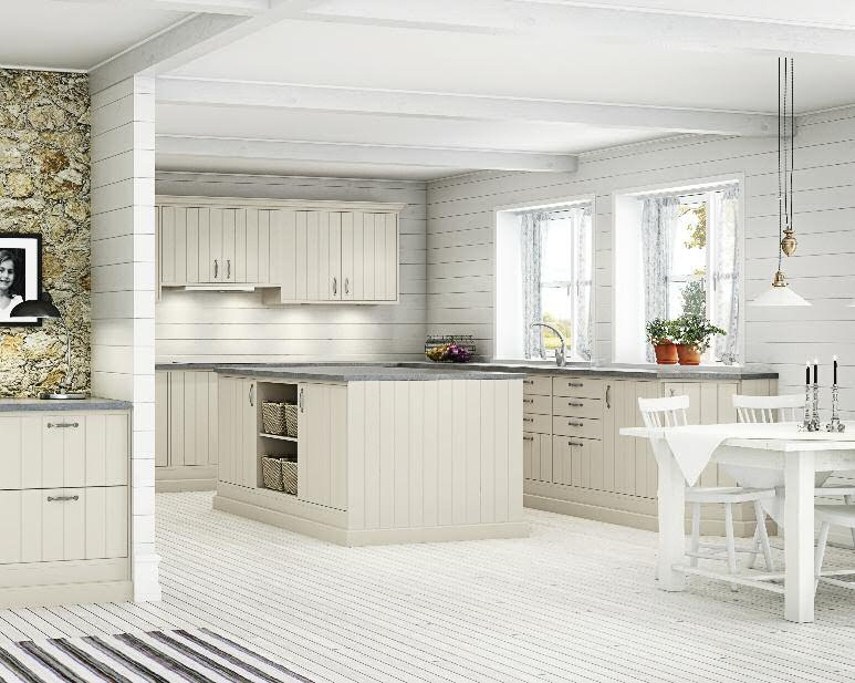 Witte Keuken Met Witte Vloer : Nordic White Kitchen
