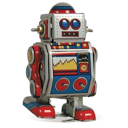 Cartoon Robot Toy : Hidden in the basement a day of robots