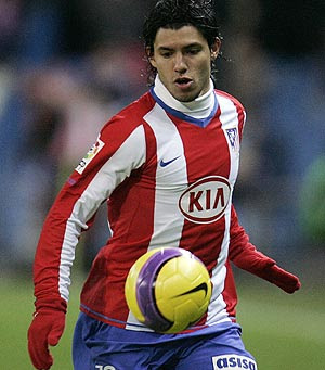 Sergio Aguero Football Picture