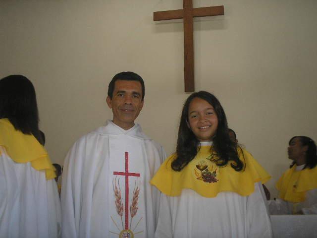 1ª EUCARISTIA NA PARÓQUIA N. SRA. DAS GRAÇAS EM 2008