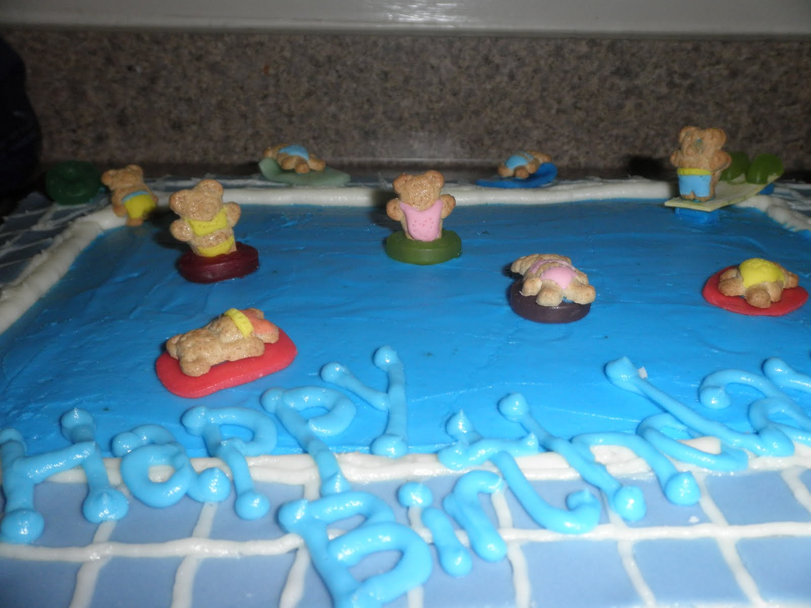 Cakes by d pool party birthday cake - How to make a pool party ...