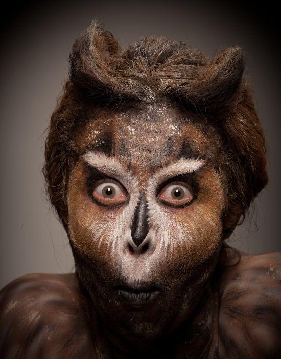 Animal face art beastly makeup for Animal face mugs