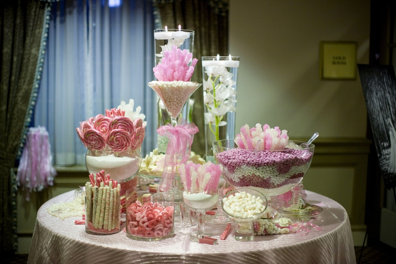 Candy Buffets for Parties and Wedding Receptions