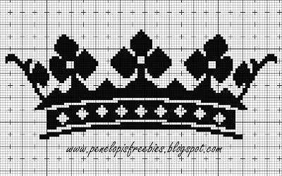 Схемы вышивки короны крестиком