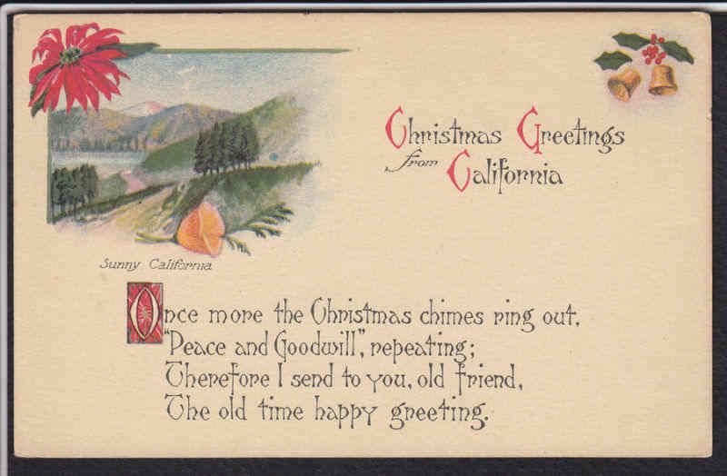 Gold country girls vintage christmas greetings from california vintage christmas greetings from california m4hsunfo