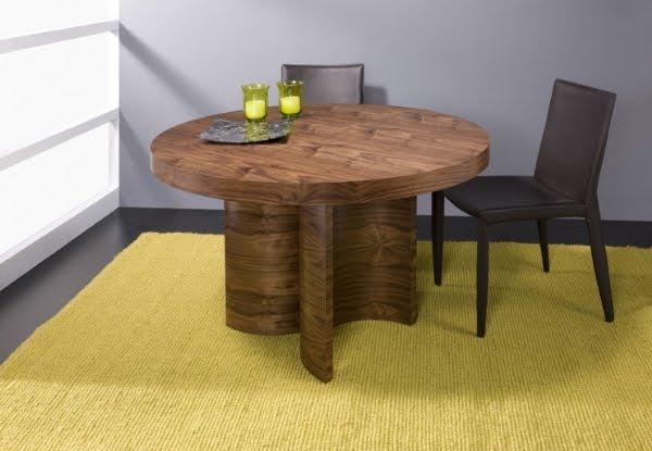 Mesas de comedor para el sal n for Mesas de comedor redondas modernas