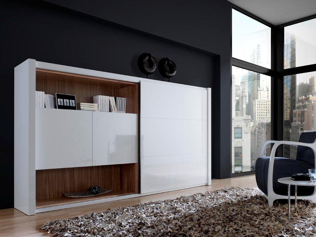 salones de diseño Madrid Los muebles blancos combinados con madera