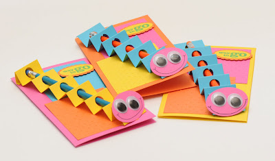 Kids card,bright,card with a gift, card with pencil