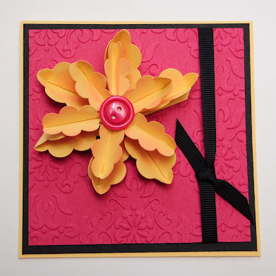 artisan winner, renee ballard, stamp stadium, fun fold flower, card, paper craft, craft, stampin up