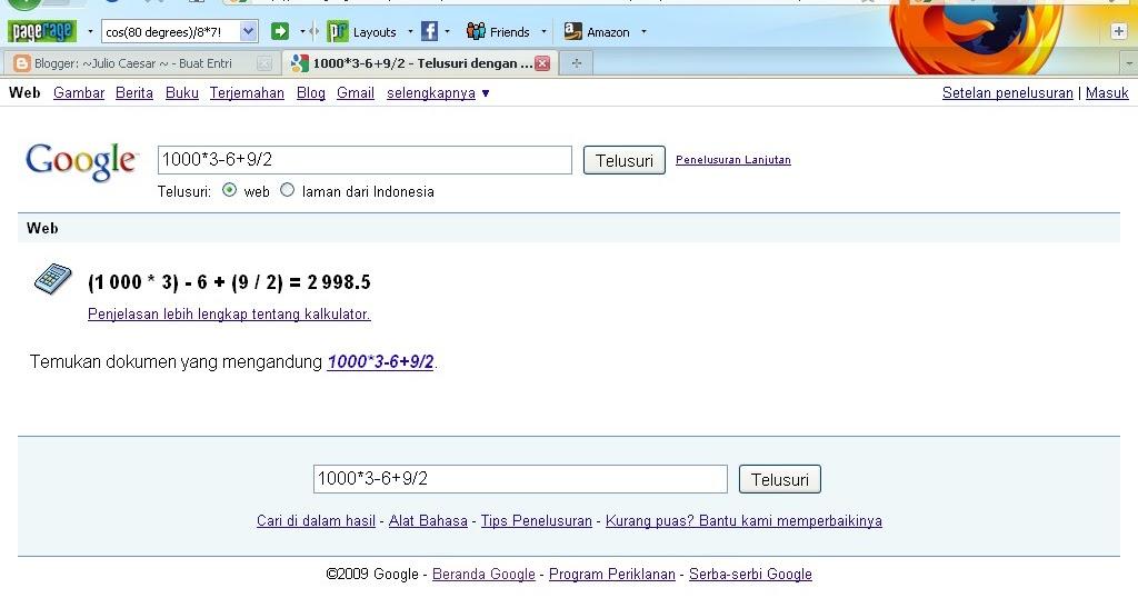 Berhitung Dengan Menggunakan Google ~ TRIX BETA
