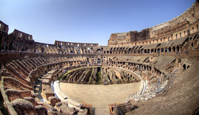 The Colosseum Rome Italy In side
