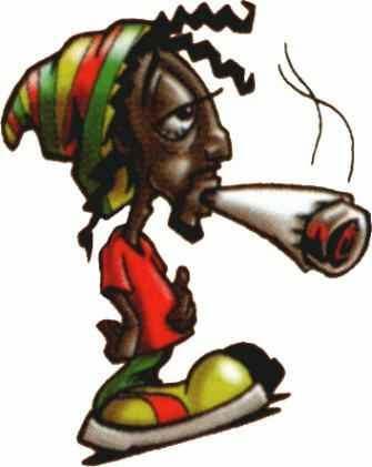 Personajes de dibujos animados fumando hierba