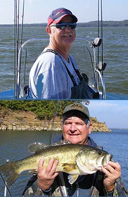 Lake texoma fall bass fishing for Fishing guides on lake texoma