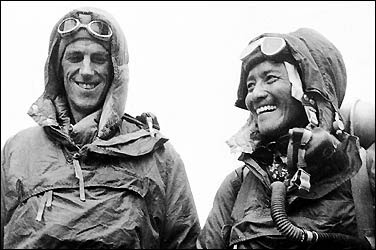 Hillary and Norgay on Everest