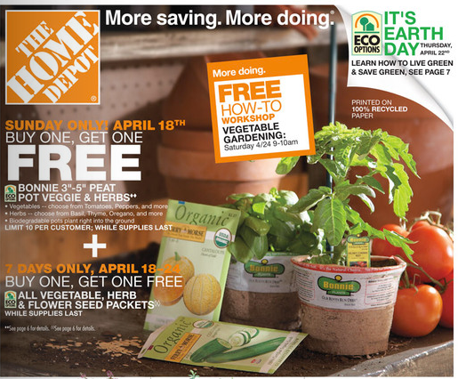Home Depot Is Having A Free How To Class Tomorrow All About Vegetable Gardening This Will Be Taking Place On Saturday April 24th From 9 10 Am