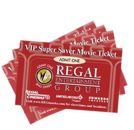 Premiere Super Saver tickets, at $8 each, are accepted for any movie, any time. There is no expiration date. This is a savings of $2 off the regular adult price for an evening movie. VIP Super Saver tickets, for $7 each, are not accepted during the first 12 days of a new release. This is a savings of $3 off the regular adult price for an.