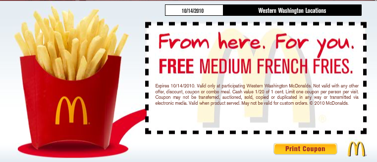 French fry coupons 2018