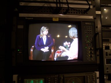 CrochetWithDee being taped for an appearance on 'The Christina Show'