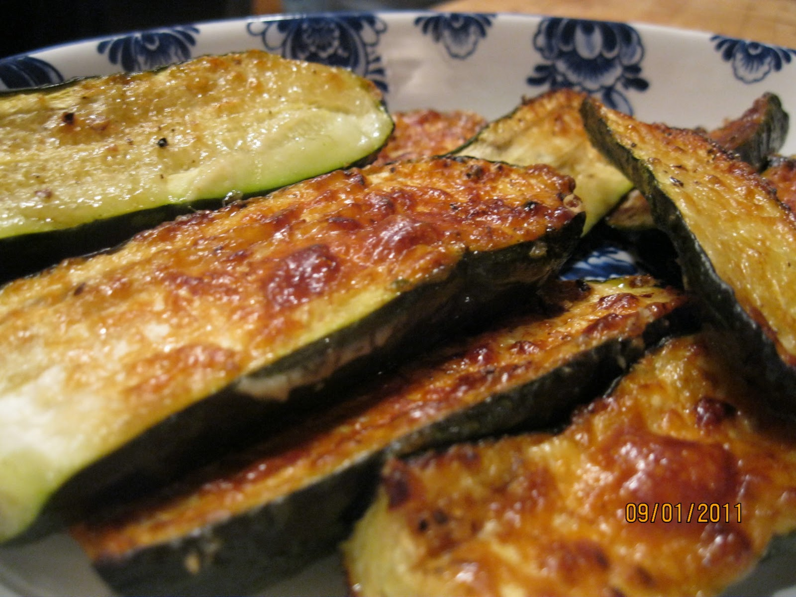 What's for dinner: Roast Parmesan zucchini (courgette)