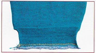 Вязание манжет на машине