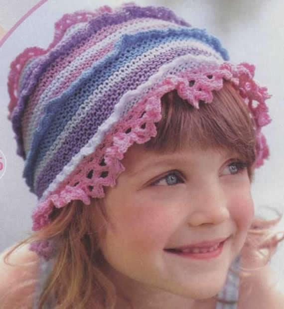 вязание шапок спицами схемы детям