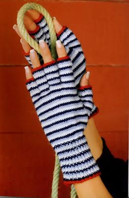 перчатки в морском стиле