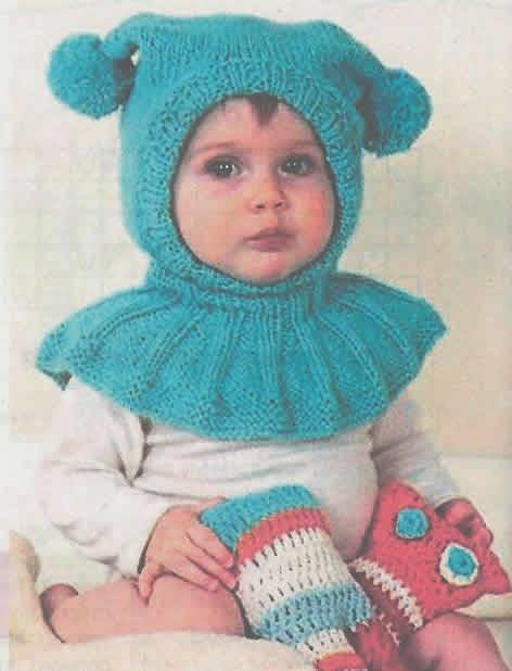 Схемы вязания детских шапок шлем