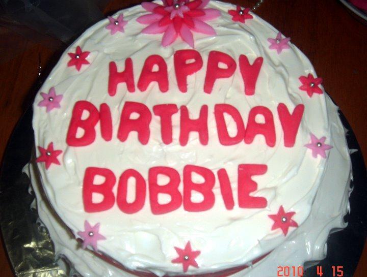 Happy Birthday Bobbie Cake