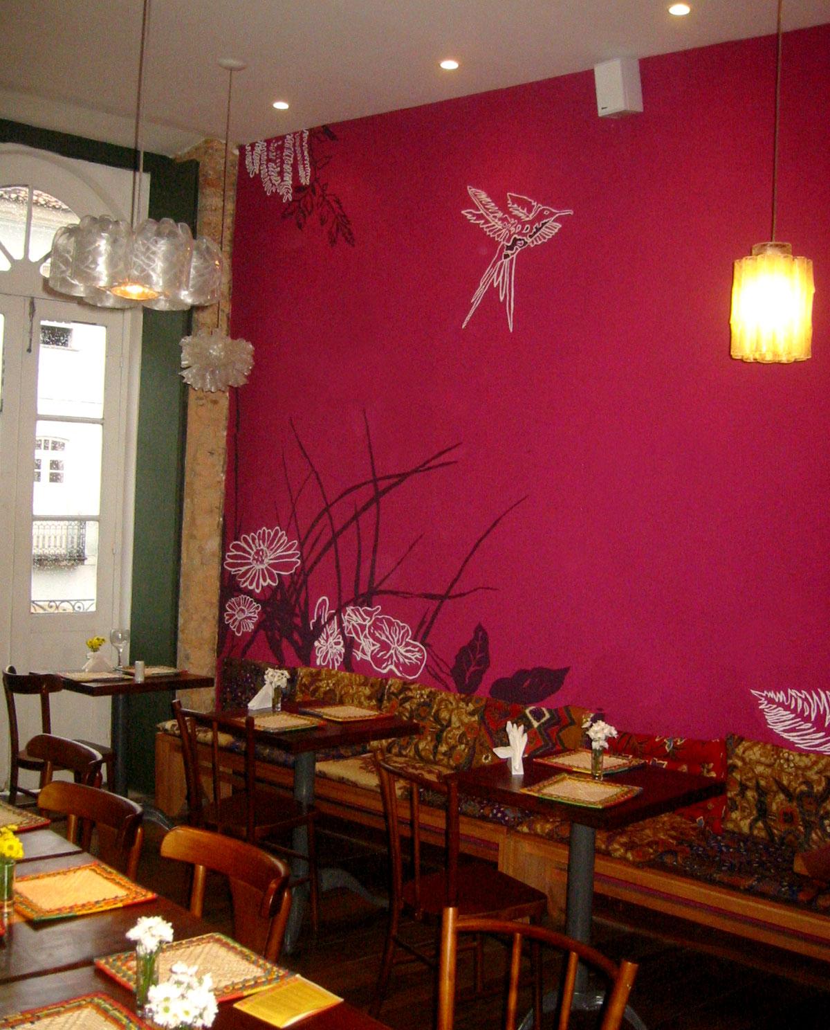 Ricard Sans Llaurado Pintura Mural Para Restaurante Ramma