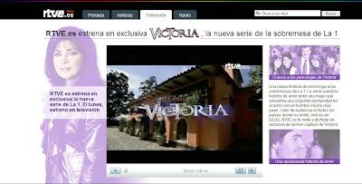 TVE estrena en internet la telenovela, 'Victoria'