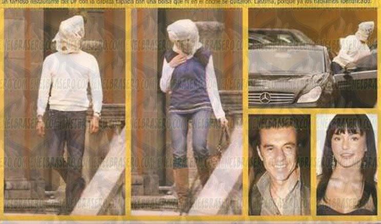 Angelique Boyer y Adrian Uribe se tapan la cabeza con una ...