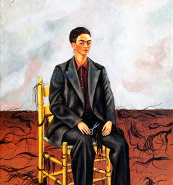 frida kahlo self portrait with cropped hair essay Significance of frida kahlo's self portrait with cropped hair frida kahlo became an important figure in the women's movement not because she fought for.