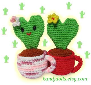 Amigurumi Herz Pflanze Kaktus