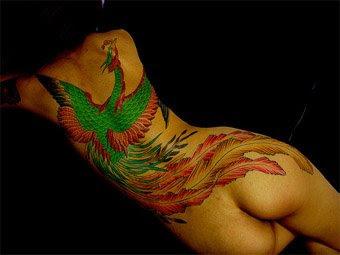 Women Phoenix Tattoo