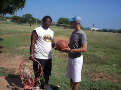 Pablito promovió el deporte y con la ayuda de muchos hizo una area deportiva en Villa Banack