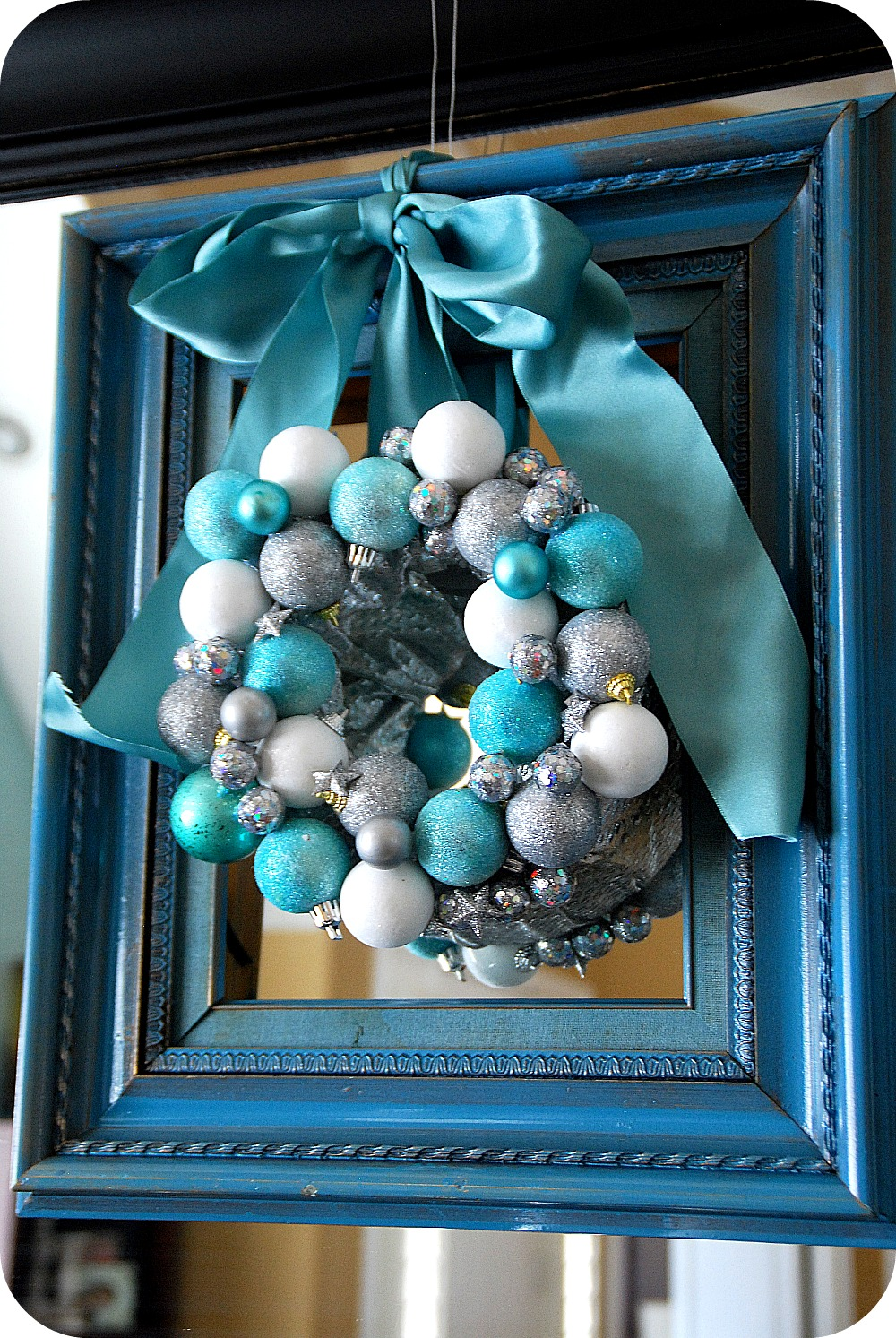 A Lot Like Christmas My Blue And Silver Christmas Mantel