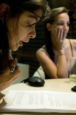 Confesionario Radio-Anoche- Mariana Enriquez et moi en el estudio