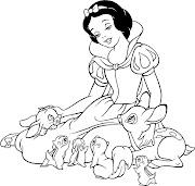 dibujos para colorear dibujo para colorear blancanieves los siete enanitos princesas princesa disney