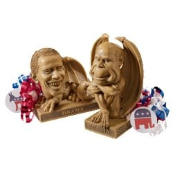 obama dragon and mccain gargoyle