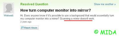 cum sa transformi monitorul in oglinda