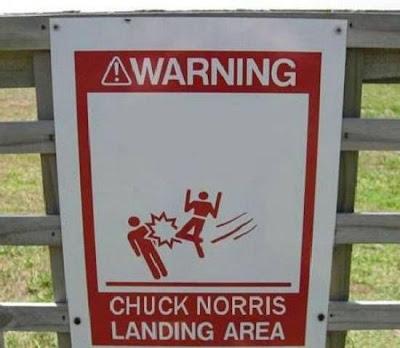 chuck norris landing site