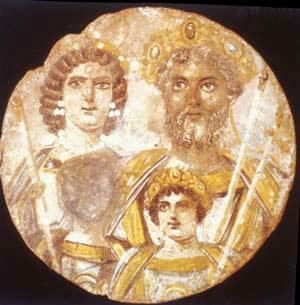 Septimio Severo y su esposa Julia Domna
